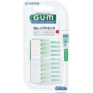 サンスター(SUNSTAR)の新品 ガム・ソフトピック ミント付き(歯ブラシ/デンタルフロス)