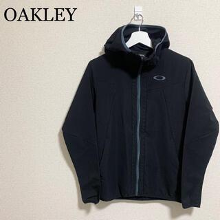 オークリー(Oakley)の★美品★ OAKLEY オークリー パーカー メンズS 黒 ジャージ ロゴ(パーカー)