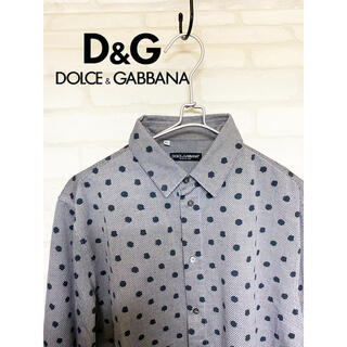 DOLCE&GABBANA - 美品 ドルチェ&ガッバーナ イタリア製 シャツ 長袖 メンズ ドット柄 水玉