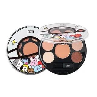 VT Cosmetics BT21 アイシャドウ パレット 01 ムードブラウン(アイシャドウ)