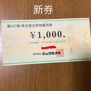 ビックカメラ お買い物券 株主優待 1000円分