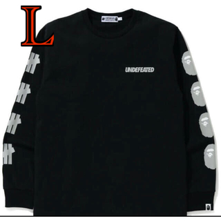 A BATHING APE - 黒 BAPE UNDFTD LONG SLEEVE TEE