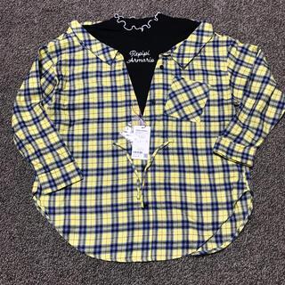 レピピアルマリオ(repipi armario)の【新品】チェックシャツ 150〜160 レピピ(Tシャツ/カットソー)
