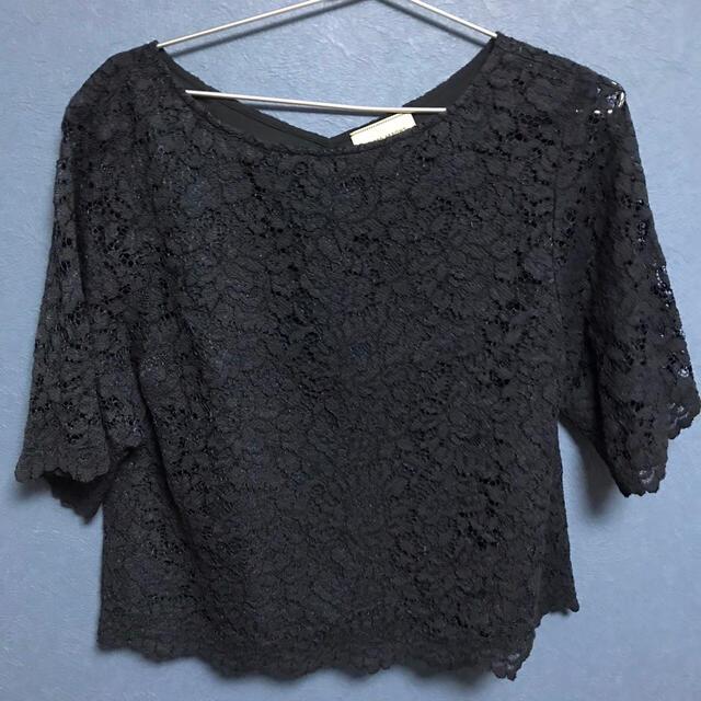 UNITED ARROWS(ユナイテッドアローズ)のUNITED ARROWS トップス ブラック レディースのトップス(Tシャツ(半袖/袖なし))の商品写真