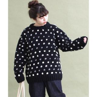 Dot&Stripes CHILDWOMAN - ドット セーター ブラック
