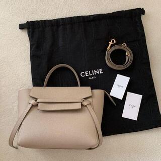 セリーヌ(celine)のCELINE ベルトバッグ ナノ  グレインドカーフスキン(トートバッグ)