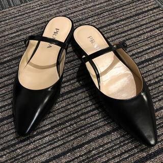 PRADA - プラダ 靴 フラットパンプス 黒