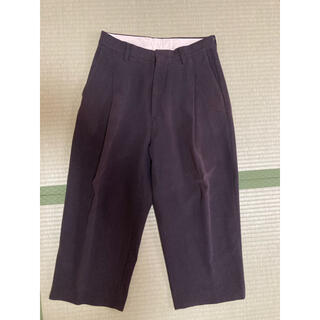 COMOLI - URU cotton 1tuck pants 18aw 1 yoke stein