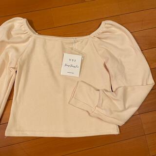 新品未使用❣️ トップス ニット セーター カットソー パフスリーブ knit