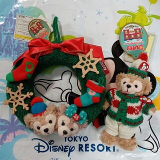 ダッフィー - ダッフィー&シェリーメイ クリスマスリースとぬいぐるみバッチセット Duffy