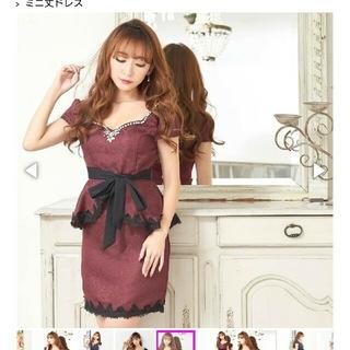 デイジーストア(dazzy store)のデイジージャガードペプラムドレス(ミニドレス)