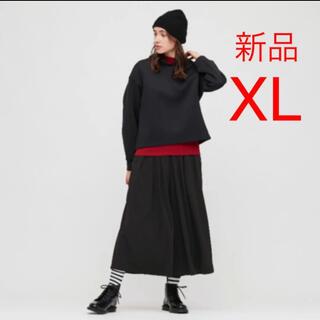 UNIQLO - 新品タグ付き クレープジャージースカートパンツ
