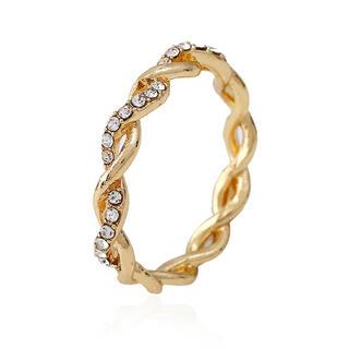ツイストリング 指輪 シンプル ゴールド レディース 新品(リング(指輪))