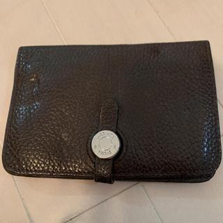 エルメス(Hermes)のHERMES 折り畳み財布 ダークブラウン 財布(折り財布)