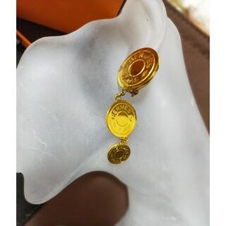 エルメス(Hermes)のエルメス HERMES イヤリング セリエ ゴールド 3連☆シャネル ヴィトン (イヤリング)