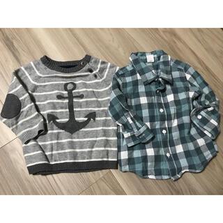 エイチアンドエム(H&M)のH&Mセーター、baby gapシャツセット(ニット/セーター)
