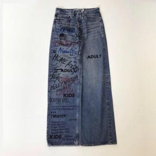 DAIRIKU 20aw Painted Damage Denim Pants