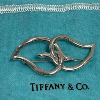 Tiffany & Co. - 美品!!【ティファニー ダブルリーフ シルバーブローチ】