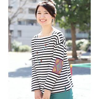 チチカカ(titicaca)のグァテマラパッチボーダー Tシャツ(Tシャツ(長袖/七分))
