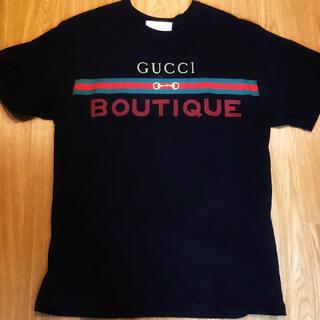 Gucci - GUCCI BOUTIQUE 黒 Tシャツ プリント オーバーサイズ グッチ