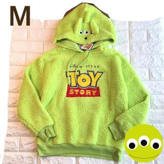 Disney - 【M】リトルグリーンメン ボア パーカー 緑系