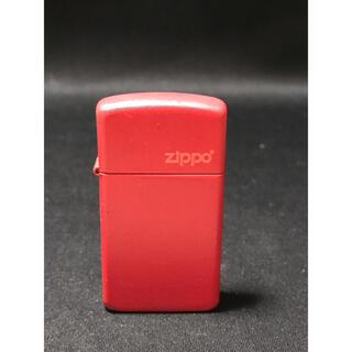 ジッポー(ZIPPO)のZIPPO ジッポー スリム レッドカラー(タバコグッズ)