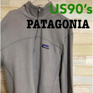 patagonia - 90's パタゴニア ハーフジップ フリース 薄手 MSize