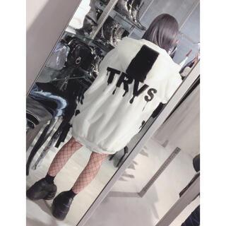FUGA - TRAVAS TOKYO バックロゴオーバーサイズフェイクファーパーカー コート