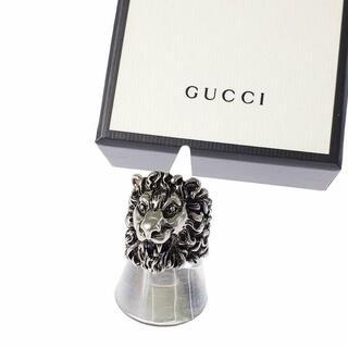 グッチ(Gucci)のGUCCI  ライオンヘッドメタルリング  23号(リング(指輪))