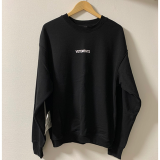 Balenciaga - 【VETEMENTS】20SS インバーテッド ロゴ スウェットシャツ ブラック