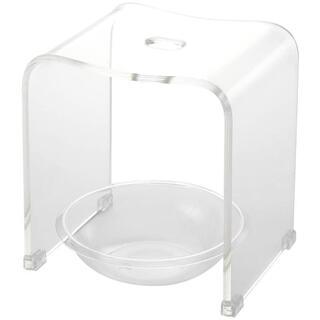 クーアイ Kuai アクリル バスチェア&ボウルセット 風呂椅子 洗面器 クリア