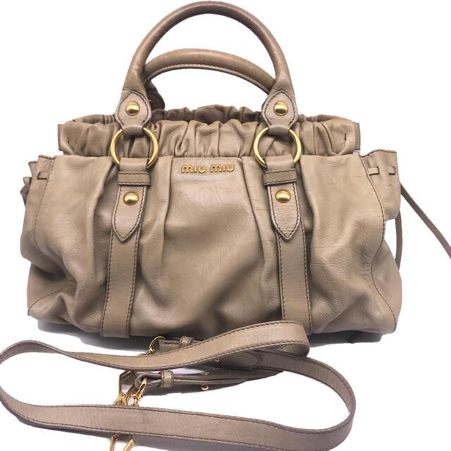 miumiu(ミュウミュウ)のミュウミュウ ショルダーストラップ付き2ウェイバック  レディースのバッグ(トートバッグ)の商品写真