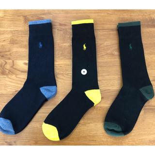Ralph Lauren - 新品ポロラルフローレン  メンズソックス 靴下 3足セットビジネスソックス519