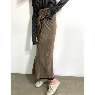 【KYS様専用】SOLOV スウェードスカート(ロングスカート)