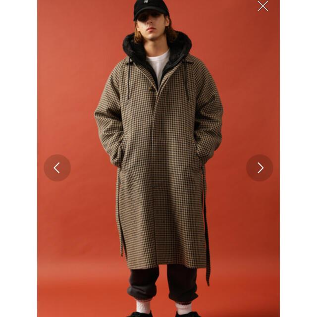 FREAK'S STORE(フリークスストア)のフリークスストア ガンクラブチェック ツイードコート メンズのジャケット/アウター(ステンカラーコート)の商品写真