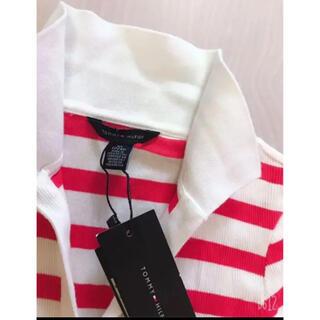 TOMMY HILFIGER - TOMMY HILFIGER❤︎赤ボーダーラガーシャツ 新品