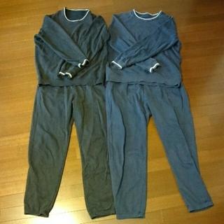 UNIQLO - ユニクロ スウェット メンズ 上下2点セット 黒 紺 トレーナーパンツパジャマ