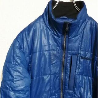 ティンバーランド(Timberland)のティンバーランド 中綿 ナイロンジャケット 刺繍ロゴ ビンテージ 古着 青ブルー(ナイロンジャケット)