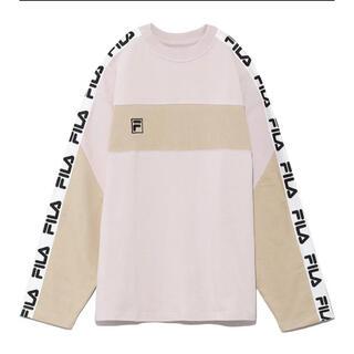 snidel - snidel × FILA  ロングTシャツ ピンク お値下げ不可