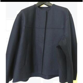 Drawer - ドゥロワー ノーカラー コート ジャケット 未使用
