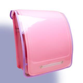 ランドセルカバー 透明 Clear × Momo ライトパープル