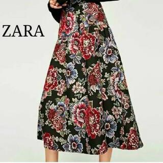 ZARA - ZARA ザラ 花柄 スカート s