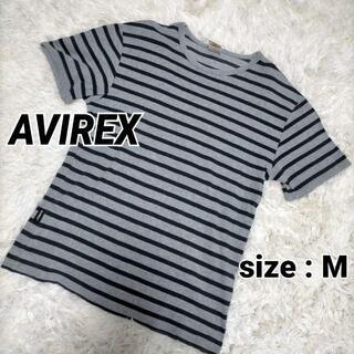 アヴィレックス(AVIREX)のavirex アヴィレックス ボーダー Tシャツ Mサイズ a060(Tシャツ/カットソー(半袖/袖なし))