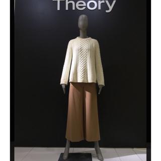 セオリー(theory)のセオリー ウール混ワイドパンツ  ブラック(カジュアルパンツ)