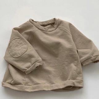 韓国子供服 ひじパッチ スウェットプルオーバー 90サイズ
