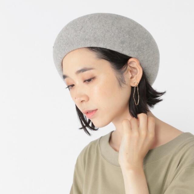 STUDIO CLIP(スタディオクリップ)の【SALE】ベレー帽(グレー) レディースの帽子(ハンチング/ベレー帽)の商品写真