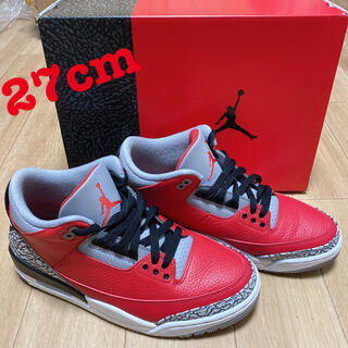 NIKE - NIKE AIR JORDAN 3 SE RED CEMENT 27cm