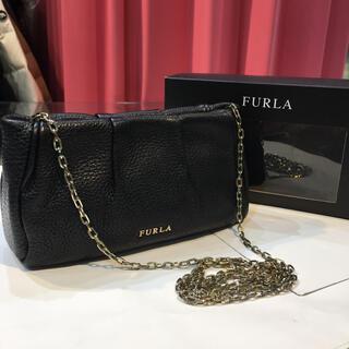 フルラ(Furla)のフルラ チェーンバッグ FURLA ブラック×ゴールド金具 箱付き(ショルダーバッグ)