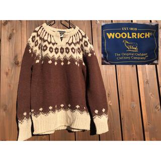 WOOLRICH - woolrich カウチンセーター プルオーバー  ヴィンテージ