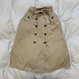 アルシーヴ(archives)のベルト付きロングスカート ボタン付きロングスカート ARCHIVES(ロングスカート)